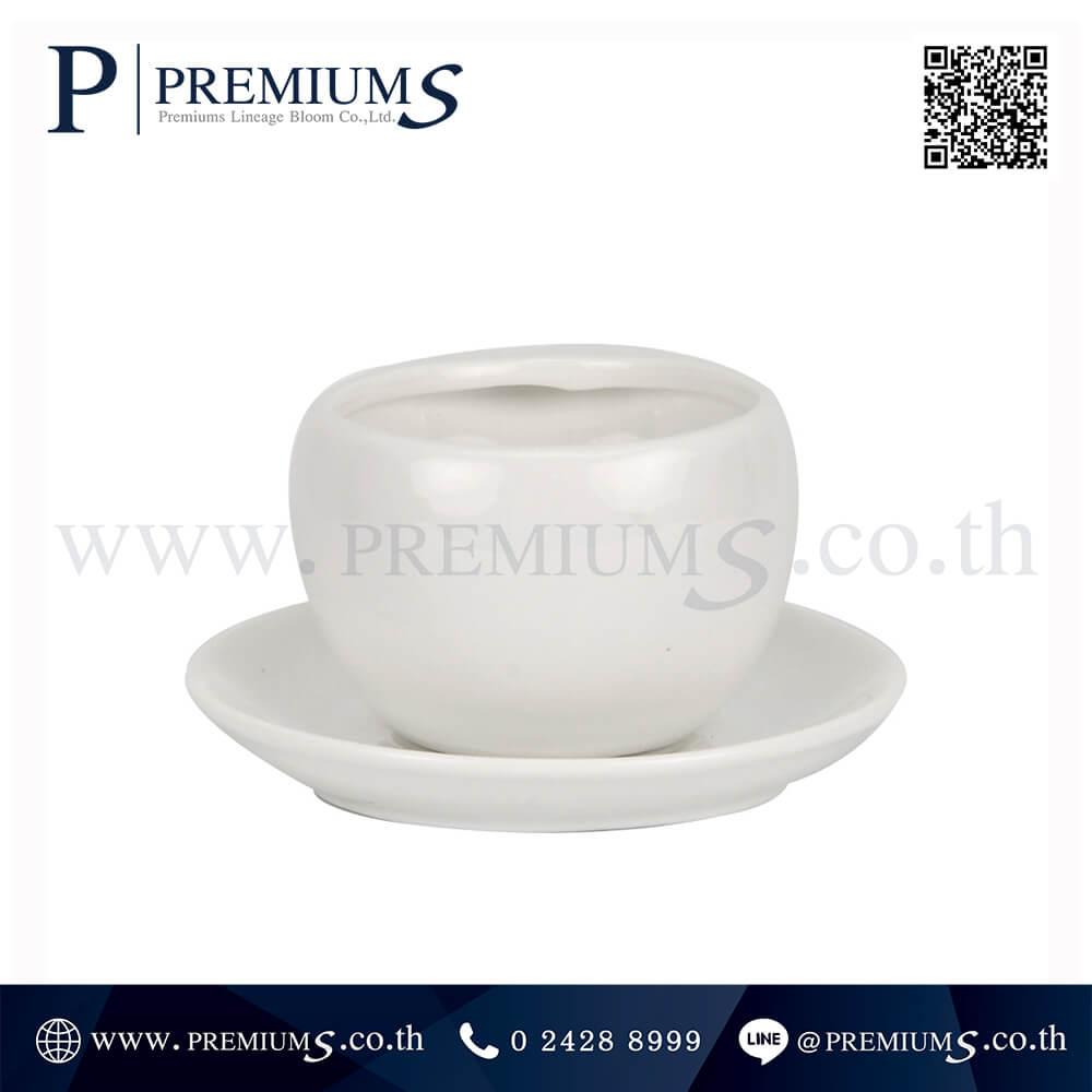 ชุดแก้วกาแฟ พร้อมจานรองทรงหยดน้ำ รุ่นSET-CM-10 สีขาว (Ceramic Mug) ภาพที่ 04