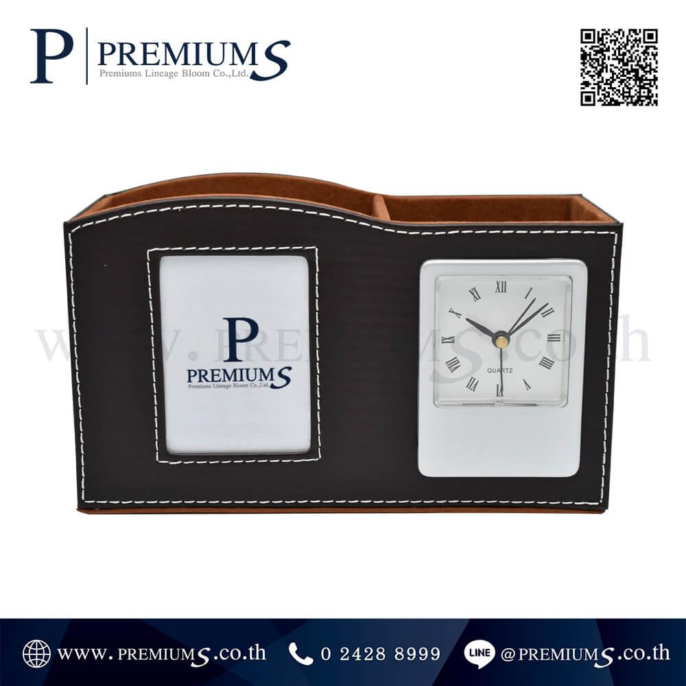 นาฬิกาตั้งโต๊ะ พรีเมี่ยม รุ่นCL-6389 | มีช่องสำหรับใส่ปากกา