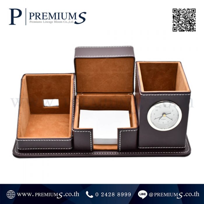 นาฬิกาตั้งโต๊ะ พรีเมี่ยม รุ่น CL- 6444 | กล่องใส่ปากกา พร้อมนาฬิกา ภาพที่ 02