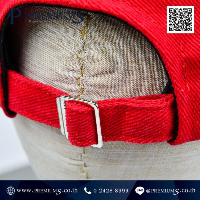 หมวกแก๊ป พรีเมี่ยม สีแดง ผ้าพรีส ปักโลโก้ RV CONNEX ภาพที่ 06