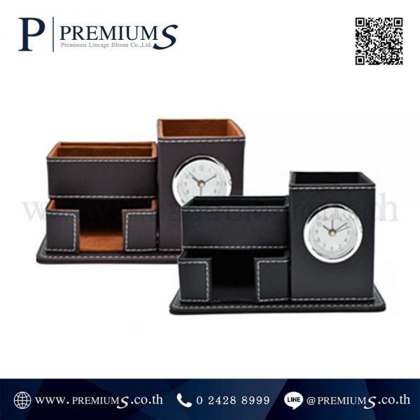 นาฬิกาตั้งโต๊ะ พรีเมี่ยม รุ่น BC-B682B | มีช่องใส่อุปกรณ์เครื่องเขียนทั้งหมด 3 ส่วน
