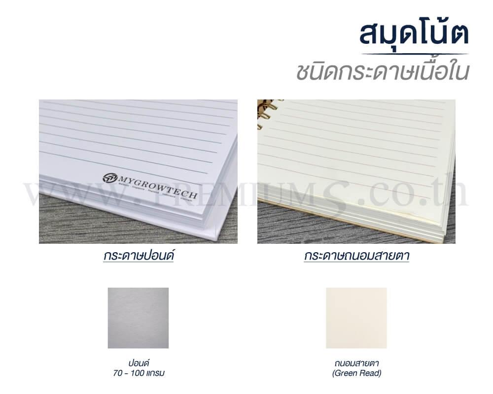 3-สมุดโน๊ต-ชนิดกระดาษเนื้อใน