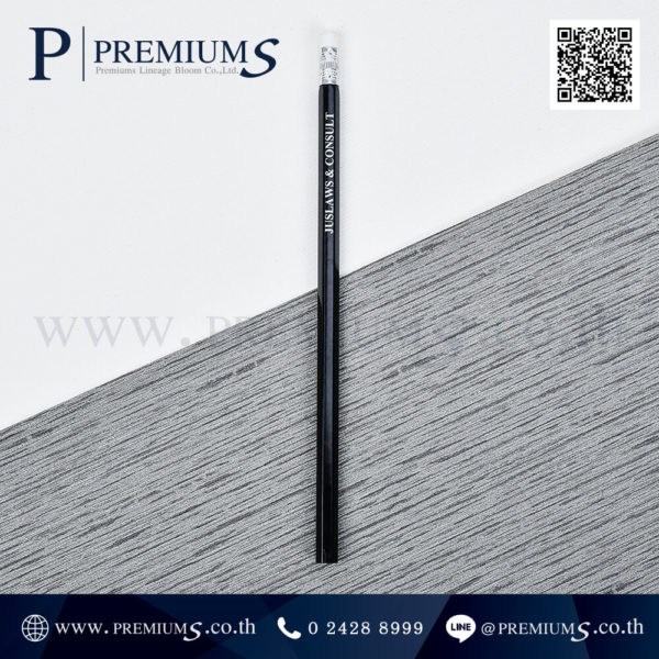 4658 ดินสอไม้ ทรงหกเหลี่ยม สีดำ Juslaws & Consult + Aom-1